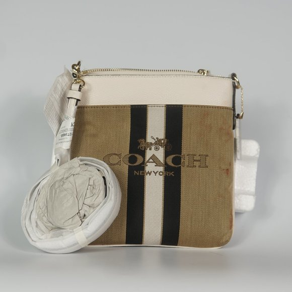 Kitt Horse and Carriage Striped Colorblock Messeng